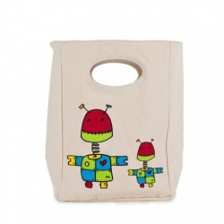 Fluf Organic Lunch Bag - Robot